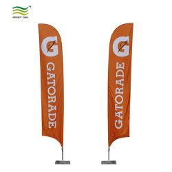 La promotion des événements en plein air de plumes personnalisé battant pavillon de la plage de bannière (T-NF04F06074)