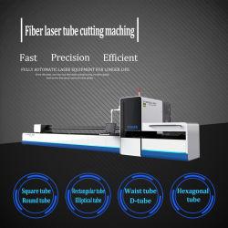 500W de Scherpe Machine van de Buis van de Laser van de vezel, Vierkante Buis, Ronde Buis, CNC van de Buis van het Roestvrij staal Knipsel, Verwerking