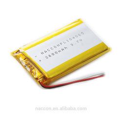 Тонкий аккумулятор 3,7 В полимерные батареи 2600 Мач 104065 Shenzhen Mobile Power Pack