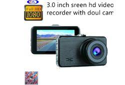 Carro HD DVR/Caixa preta/Gravador de Vídeo/carro câmaras com 3.0Screen Câmaras Doul