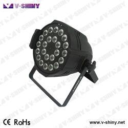 24 X 10W RGBW 4en1 PAR LED iluminación de escenario puede