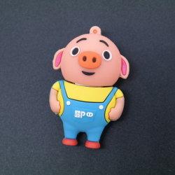 Forme de cochon personnalisé lecteur Flash USB USB3.0 caoutchouc PVC Pendrive USB2.0 4GB 8Go et 16 Go et 32 Go à 64 Go de 128 Go
