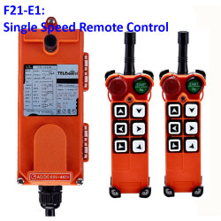 Mando a distancia de la industria inalámbrica Telecrane polipasto eléctrico de control remoto Transmisor de 1 + 1 receptor F21-E1