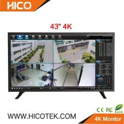 43 pulgadas de pantalla LED LCD a color de 1080p 4K IP CCTV Vigilancia Cámaras Mini PC Monitor de TV de pantalla