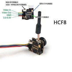 Parti grandangolari di Fpv RC dell'antenna di sostegno OSD NTSC della macchina fotografica del trasmettitore 700tvl 1/4 CMOS Fpv di Hcf8 5.8g 48CH 25MW