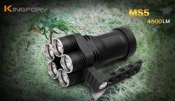 Imperméable multifonctionnelle 18650 4500 Lumen portable rechargeable Lampe de poche ultra-brillant