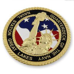 Настраиваемые петли кромки позолоченный военные задачи монеты
