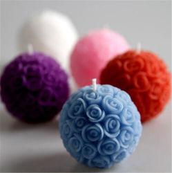 3%の香料入りの石蝋のローズの花の球の蝋燭
