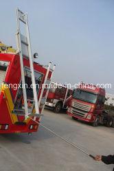 Parte traseira do veículo de combate a incêndio da escada dobrável