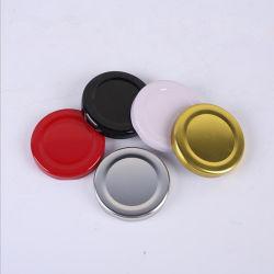 30mm 38mm 43mm 48mm ou 53mm 58mm 63mm 70mm 80mm 82mm tampas roscadas de metal de folha de flandres/ torça a tampa de encaixe com o botão