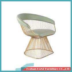 現代庭の屋外の鉄ライン居間の金202ステンレス鋼の椅子
