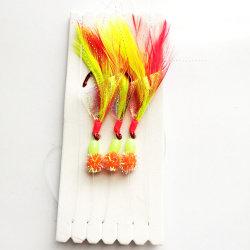 صيد سمك وماضة طعم جهاز حفر مع حقيقيّة ريش [سبيكي] صيد سمك طعم طعم جهاز حفر