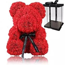 Regalo promocional para el día de la Madre Día de San Valentín regalo de aniversario de boda Rosa Teddy Bear propuesta
