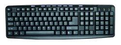 Las claves de 107 teclado con 9 teclas multimedia Teclado USB 2.95 USD