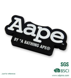 Custom Soft Plastic PVC badge voor Garment (xd-0312)