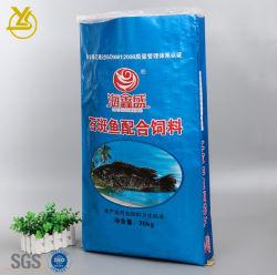 魚の水生供給のためのカスタマイズされたクラフト紙のシールのプラスチック20kg BOPPによって編まれる袋