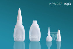 La vendita calda di Hopson 10g Plat la bottiglia di plastica per colla