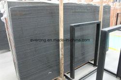 Marmo di legno nero di marmo nero della vena di Serpeggiante per Tiles&Slabs