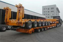 Asse 3 di 80 tonnellate di Gooseneck resistente del caricatore/Lowbed/Lowboy della base di rimorchio del camion rimorchi bassi bassi semi per trasporto dell'escavatore