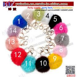 Bambola Keychain (G8033) della borsa del sacchetto delle donne della catena chiave del Pompom della pelliccia del coniglio del prodotto di promozione