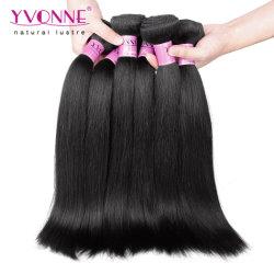 まっすぐの卸し売りイボンヌ100%の人間のバージンの毛Weft Yaki