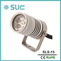 Venda a quente ronda farolete de iluminação LED de prata de alumínio