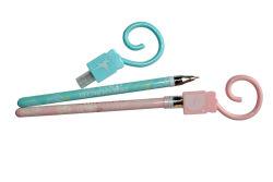 2020 School Student Gel bleu rose plumes