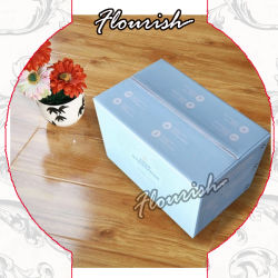 Tamanho médio em forma de retângulo de armazenamento e expedição de papelão ondulado profunda caixa de papelão para leite em pó desnatado tecido// Guardanapo/ Produtos cosméticos