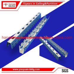Soffitto d'acciaio della sospensione della chiglia dell'indicatore luminoso galvanizzato vite prigioniera d'acciaio della Manica del soffitto del metallo del muro a secco
