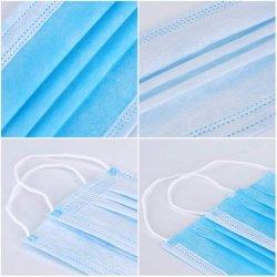 Usine des ventes directes en provenance de Chine bleu Huiheng 3 plis de masques faciaux