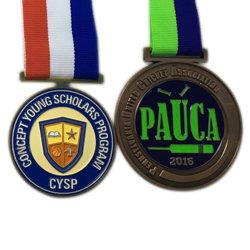 Antikes Kupfer überzogene weiche Decklack-Schule-Sport-Sitzungs-Medaille