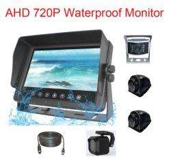 7inch Ahd 720pは車LCDの背面図のモニタを防水する