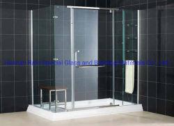 Nuevo Hotel de diseño fácil de montar el cuarto de baño baño deslizante de cristal templado mampara de ducha