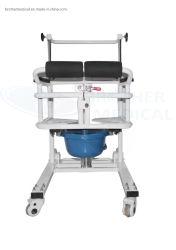 Absinken-Arm-Kopfende-Übergangsbeweglicher Commode-Stuhl mit Toilette für Patienten