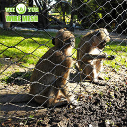 Tejido de alambre de acero inoxidable 316 Zoo de la cuerda de malla de gabinetes