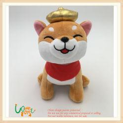 Peluches Peluche Perro marrón con pañuelo rojo a los niños Los niños juguetes de Baby Doll