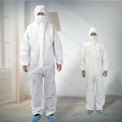 Saída de fábrica isolamento descartáveis de Vestuário Vestuário de fatos de protecção de segurança médica em stock