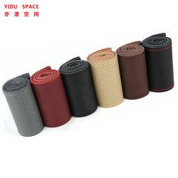 Four Seasons Non-Slip Universal Wear-Resistant Cowhide perfurada de microfibras de couro mão de couro Carro de costura Volante define
