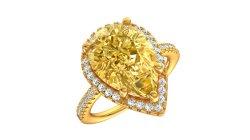 황금 화이트 골드 최신 판매 공상 보석 다이아몬드 절단 반지