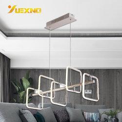 Золото хром LED площади 5 - Легкий утюг отель подвесной потолок люстра
