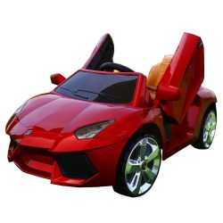 Nova Fábrica Lamborghini Passeio Licenciados Frio carro elevador eléctrico de dois assentos para crianças crianças viajem carro para crianças de até 12 anos