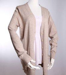 여성용 모달 캐시미어 혼합 스웨터 나이트웨어 카디건 파인 게이지 스웨터