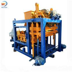 ماكينة صناعة الطوب الأسمنتية الكهربائية الساكنة التلقائية محبس الإسمنت الإستاتيكي مع وحدة تغذية بمنصة وملقط Pan Mixer Qtj4-25D