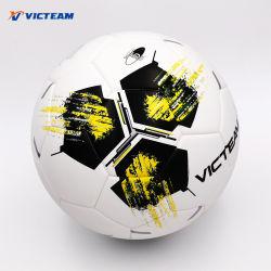 La formación práctica Thermo-Bonded pelota de fútbol de cuero