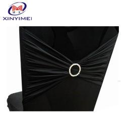 لون حزام غطاء كرسي العرس من مطاط Lycron/Stretch/spandex الاختياري مع إبزيم