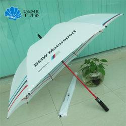 Paraplu Van uitstekende kwaliteit van het Golf van de Gift van het Embleem van de LEIDENE de Lichte Douane van de Paraplu Rechte