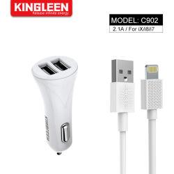Charge rapide 2.1A USB Câble de chargeur de voiture pour iPhone