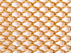 審美的な出現の真鍮の網のコイルのカーテンの現代カーテン