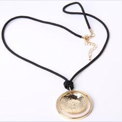 Más Populares de la calidad de la moda de joyería de oro de la cuerda colgante Collar
