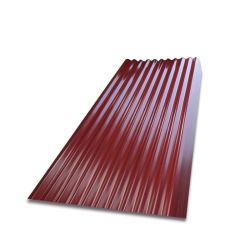 PPGI de matériaux de construction de l'acier tôle de toit de bâches de métal ondulé
